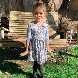 Old Navy Blue Floral Swing Dress size 4T